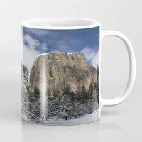 yosemite Mugs featuring Yosemite by Michelle Chavez