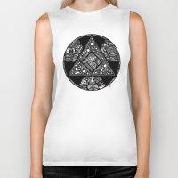 alchemy Biker Tanks featuring Altered Alchemy by Christina Rivera-Scott
