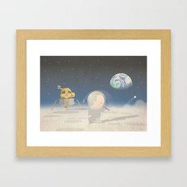 Moon Golf Framed Art Print
