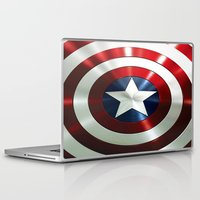 steve rogers Laptop & iPad Skins featuring Captain Steve Rogers Shields  by neutrone