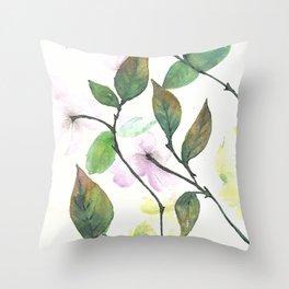 Dogwood Painting Throw Pillow