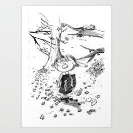 Deuxième hiver Art Print