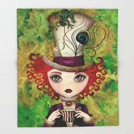 Lady Hatter Throw Blanket