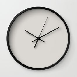 From The Crayon Box – Timberwolf Gray - Light Gray Solid Color Wall Clock