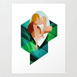 Over the sea Art Print
