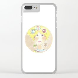 Thoughts of peace Clear iPhone Case