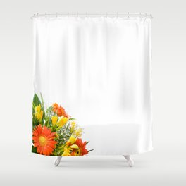 Arranged wedding handheld bouquet Shower Curtain