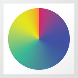 Gradient Orbit Art Print