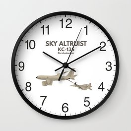 KC-135 Airplane Refueling F-15 Wall Clock