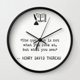 Henry D. Thoreau Wall Clock