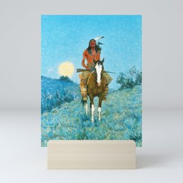 Frederic Remington - The Outlier, 1909 Mini Art Print