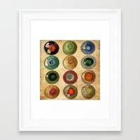atlas Framed Art Prints featuring ATLAS by d.ts