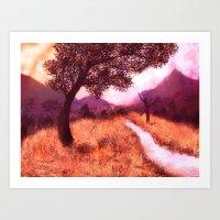 montana Art Prints featuring Montana by Tanya Dawn Art