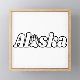 Alaska Bear Paw Print Nature Kodiak Katmai Framed Mini Art Print