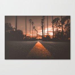 Road at Sunset Canvas Print