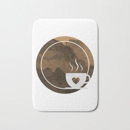 Coffee brings the passion - I love Coffee Bath Mat
