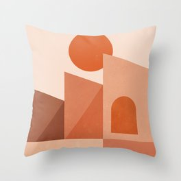 Abstraction_ARCHITECTURE_BOHEMIAN_Minimalism_001A Throw Pillow