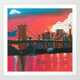 NYC in Twilight Art Print