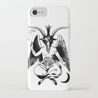baphomet iPhone & iPod Cases featuring BAPHOMET by carolin walch