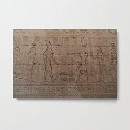 Egypt hiroglyphic pharaoh Graphic Metal Print