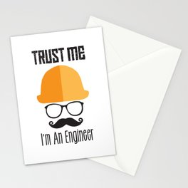 Trust Me I'm An Engineer Stationery Cards