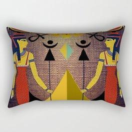 Hathor under the eyes of Ra -Egyptian Gods and Goddesses Rectangular Pillow