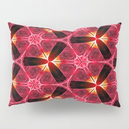 Chainlink Pattern (red) Pillow Sham