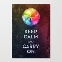 keep calm Canvas Prints featuring Keep Calm by Michael Flarup