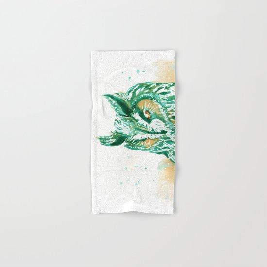 green owl Hand & Bath Towel