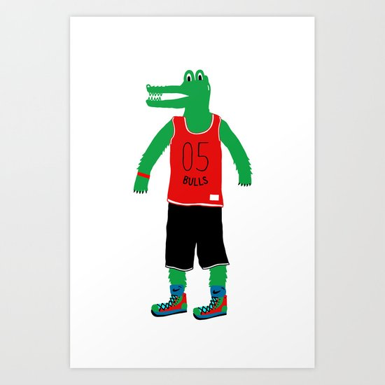 Alligator wants to play Art Print