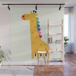 Giraffe Piano Wall Mural
