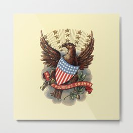 Coat of Arms of USA 1898 eagle and star badge vintage hand drawn illustration Metal Print
