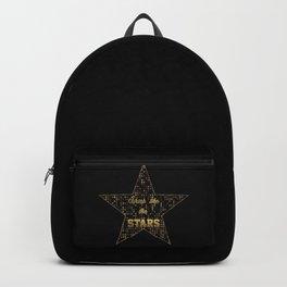 Shine like the STARS typography Backpack