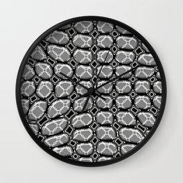 Gray Pepples Pattern Wall Clock