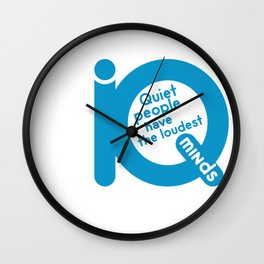 QUIET PEOPLE Wall Clock