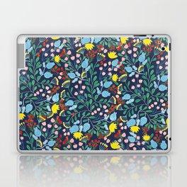Floral Garden - Blue Laptop & iPad Skin