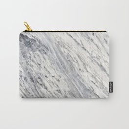 Elegant vintage rustic gray white trendy marble Carry-All Pouch