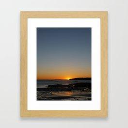 Sunset at Crescent Beach Framed Art Print