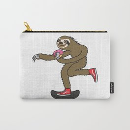 Skater Sloth loves donut Carry-All Pouch