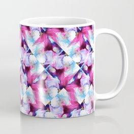 Rainbow Down Abstract Watercolor Painting Coffee Mug
