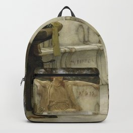 Lawrence Alma-Tadema - Sappho and Alcaeus Backpack