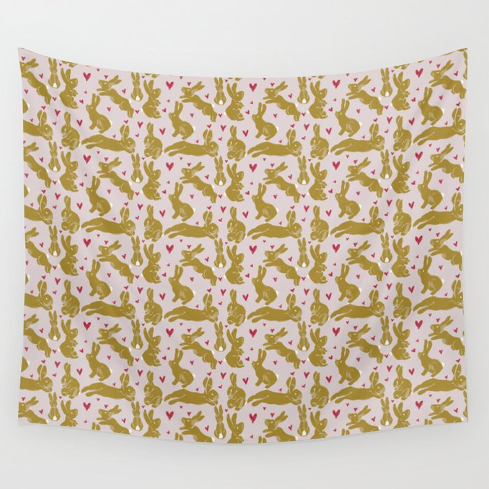 Bunny Love - Easter edition Wall Tapestry