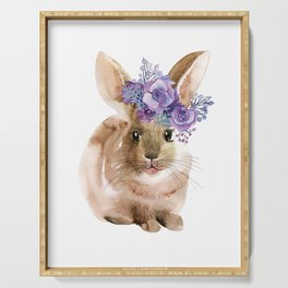 Little bunny in Wreath Serving Tray