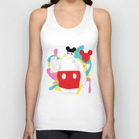 baymax Tank Tops featuring Baymax by The Space Wanderer