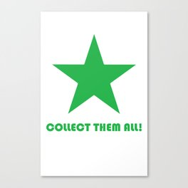 Green Star - Collect Them All! Canvas Print
