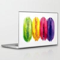 macaroons Laptop & iPad Skins featuring Macaroons by AnaStasiaartdesign