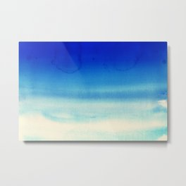 Sky Watercolor Texture Abstract 710 Metal Print
