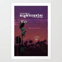 nightcrawler Art Prints featuring Nightcrawler by edgarascensao