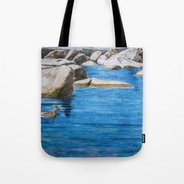 Morning Swim at Lake Tahoe Tote Bag
