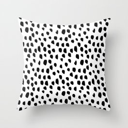 Hand drawn drops and dots on white - Mix & Match with Simplicty of life Throw Pillow